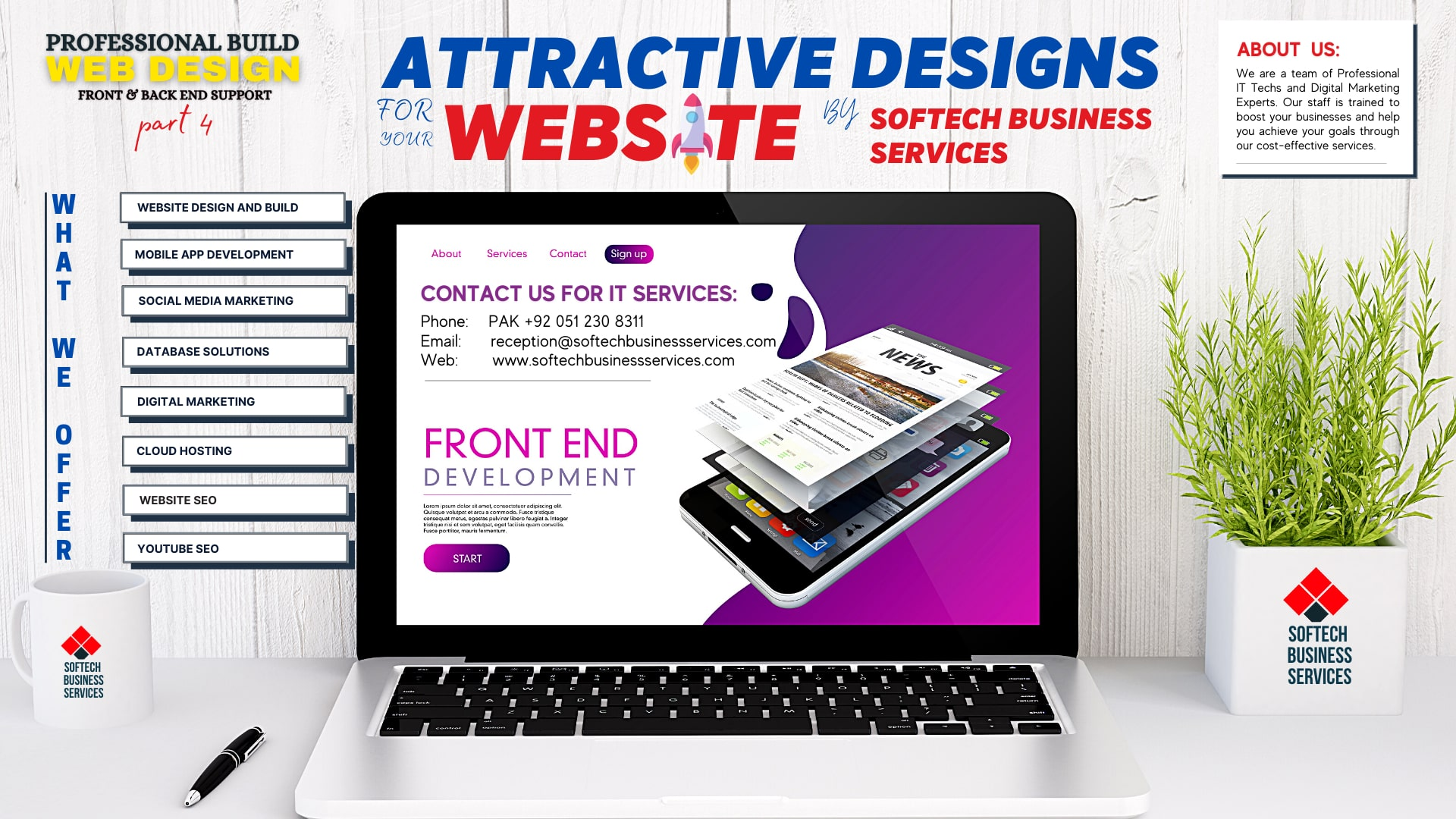 Top 6 Tips To Make Your Website Attractive and Beautiful by Softech Business Services